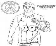 Lionel Messi PSG Paris Saint Germain Football Logo dessin à colorier