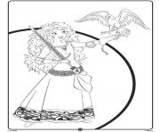 Merida Disney Princess Crayola dessin à colorier