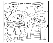 nursery rhymes baa baa black sheep dessin à colorier