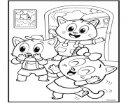 nursery rhymes three little kittens dessin à colorier