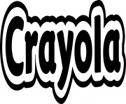 crayola logo dessin à colorier