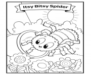 nursery rhymes itsy bitsy spider dessin à colorier