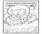 nursery rhymes mary had a little lamb dessin à colorier