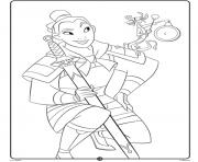 Mulan Disney Princess Crayola dessin à colorier