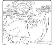 Rapunzel Disney Princess Crayola dessin à colorier