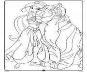 Jasmine Disney Princess Crayola dessin à colorier
