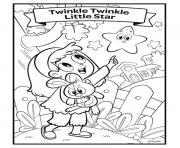 nursery rhymes twinkle twinkle little star dessin à colorier