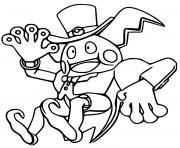 pokemon unite mr mime magicien dessin à colorier