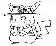 pokemon unite pikachu holo costume dessin à colorier