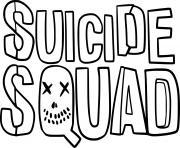 Suicide Squad logo dessin à colorier