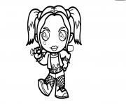 Harley Quinn Kawaii Suicide Squad dessin à colorier