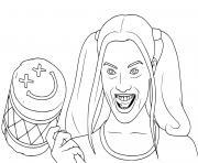 La brigade suicide Harley Quinn dessin à colorier