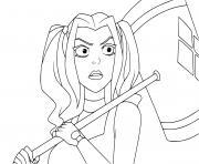 Harley Quinn cartoon dessin à colorier