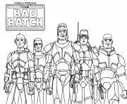 Star Wars Bad Batch Omega Depa Billaba Jedi Master dessin à colorier