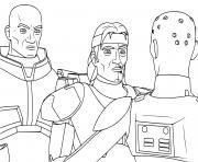 Star Wars Bad Batch Clone elite experimentaux dessin à colorier
