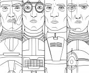squad elite clone troopers Star Wars Bad Batch dessin à colorier
