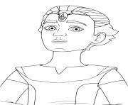 omega clone humain femme Star Wars Bad Batch dessin à colorier