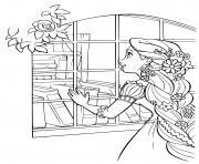 la princesse devant une collection de livres dessin à colorier