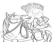 flynn rider tente de communiquer avec sa princesse dessin à colorier