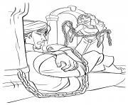 gothel emprisonne flynn rider dessin à colorier