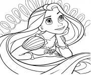 belle princesse charmante et mignonne avec des yeux verts dessin à colorier