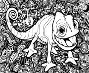 mandala disney raiponce cameleon pascal dessin à colorier