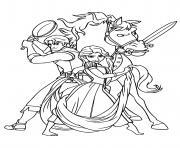 raiponce ryder maximus pret pour une grande aventure dessin à colorier