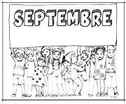 Coloriage septembre rentree scolaire avec caillou dessin