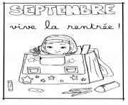 Coloriage mois de septembre la rentree scolaire bienvenue a lecole dessin