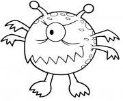 monstre poisson dessin à colorier