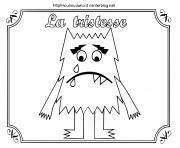 monstre des emotions la tristesse dessin à colorier