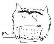 monstre qui pleure dessin à colorier
