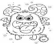 monstre rigolo maternelle dessin à colorier