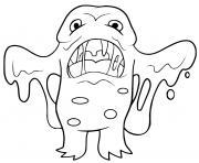 monstre effrayant qui fond au soleil dessin à colorier