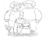 famille de caillou dessin à colorier