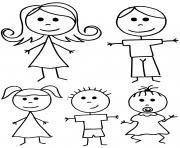 famille simple maternelle dessin à colorier