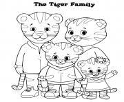 famille daniel tiger dessin à colorier