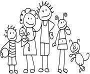 famille maternelle facile dessin à colorier
