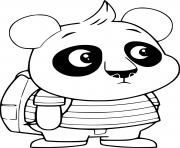 Nico Panda with His Backpack dessin à colorier
