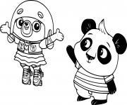 Chip Pug and Nico Panda dessin à colorier