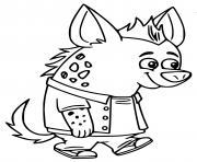 chip et patate howie hyena la hyene dessin à colorier