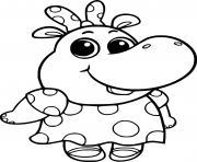 Hop Hippo dessin à colorier