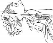 Coloriage sea monster luca disney pixar dessin