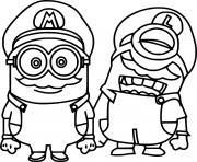 Mario Minions dessin à colorier