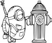 Stuart Loves a Fire Hydrant dessin à colorier