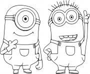 Stuart and Phil Minions dessin à colorier