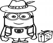 Dave Minion in the Hat dessin à colorier