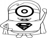 Minion Superman dessin à colorier