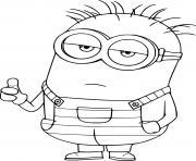 Phil Minion Thumbs Up dessin à colorier