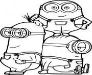 Kevin and Bob with Stuart dessin à colorier
